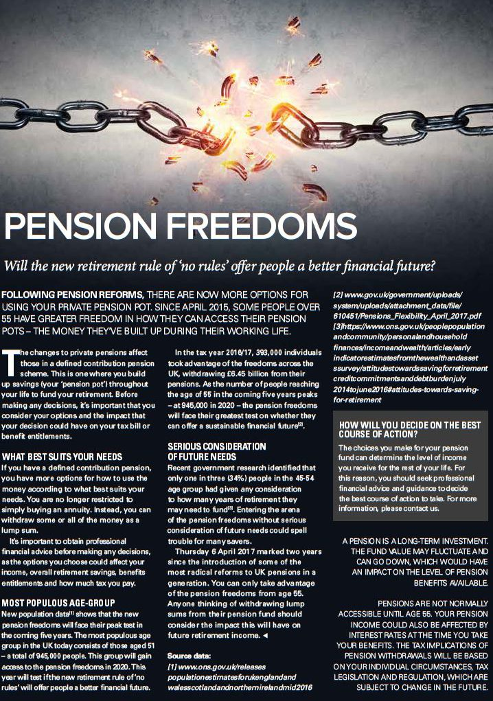 Pension Freedoms.