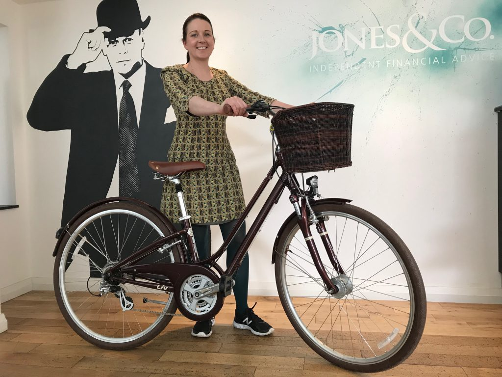 Jones & Co's compliance manager, Shannan Pool-Gorman has bought a bike and will be commuting to work from now on!