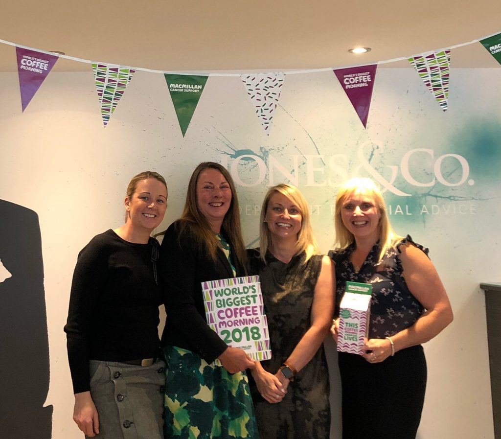 Jones & Co raise funds for MacMillan Cancer Support with World's Biggest Coffee Morning on 28th September